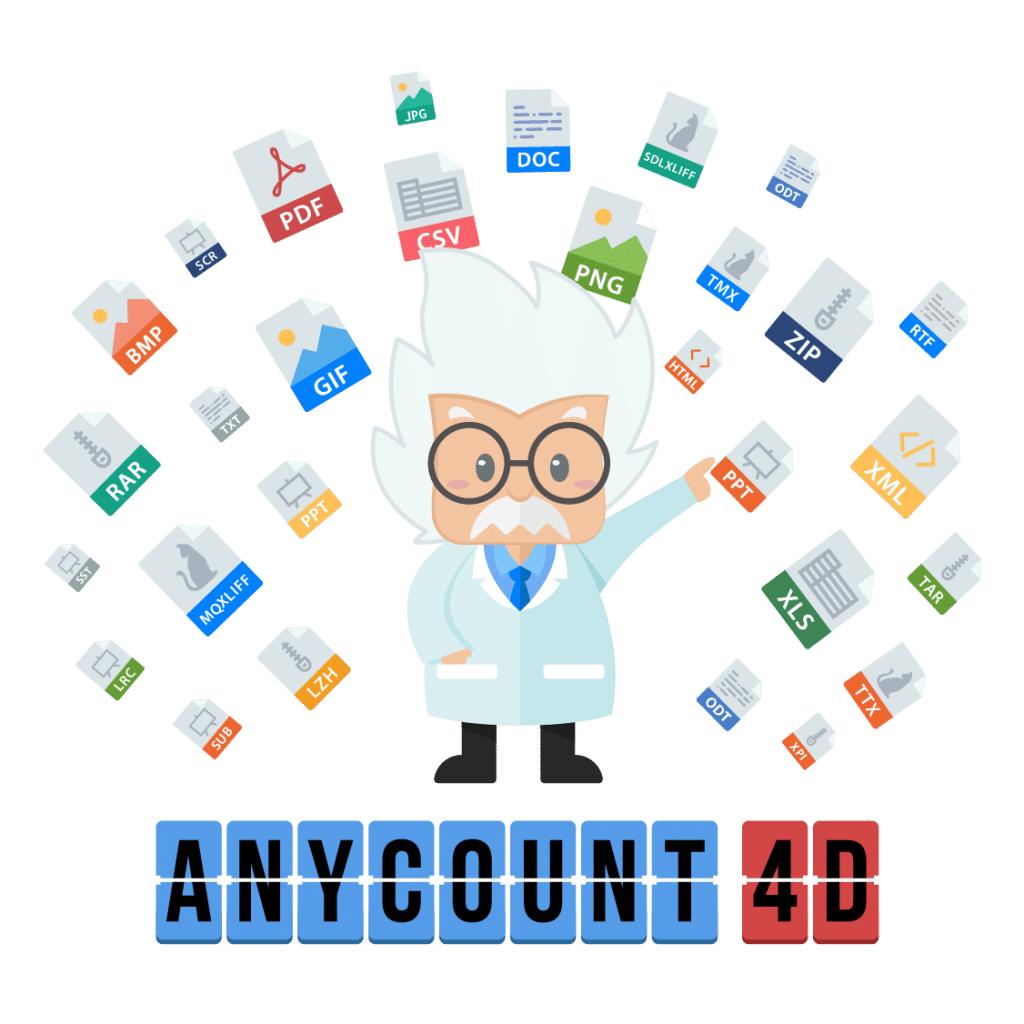 AnyCount 4D word count, character count, and line count tool