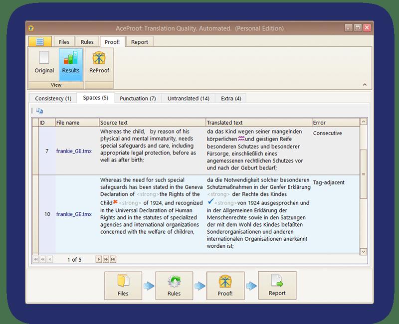 AceProof - Translation Quality Assurance Software
